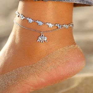 JUST IN ♡ ELEPHANT Layered ANKLET